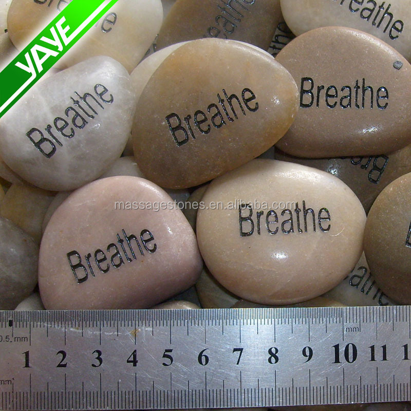 Wholesale 3 5cm engraved white river pebble stones crafts for Where to buy rocks for crafts