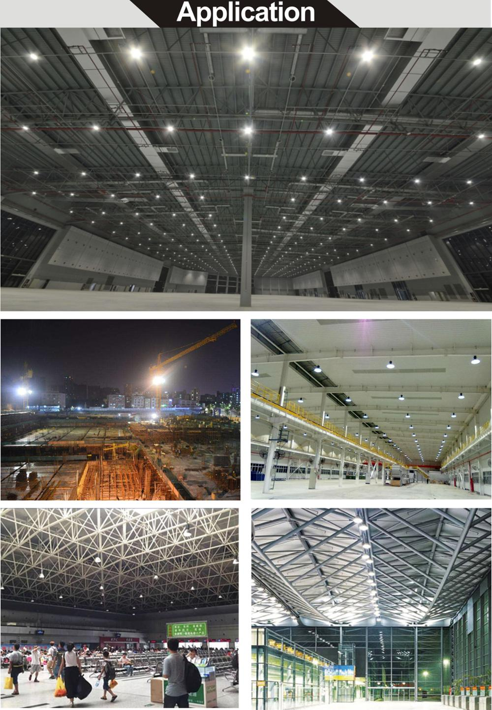 IP65 factory warehouse industrial 100w 150w 200w 240w 400w ufo led high bay