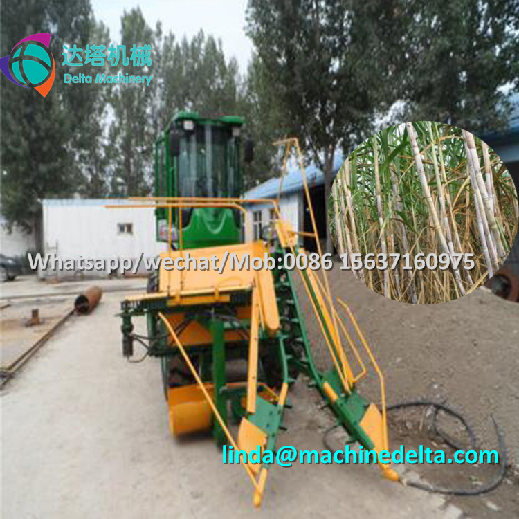 New developed whole stalk sugarcane harvester / mini cane harvester / sugar cane harvesting machine with top cutter
