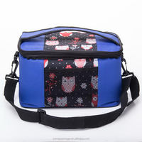 Competitive price hot-sale cooler bag with flower picture