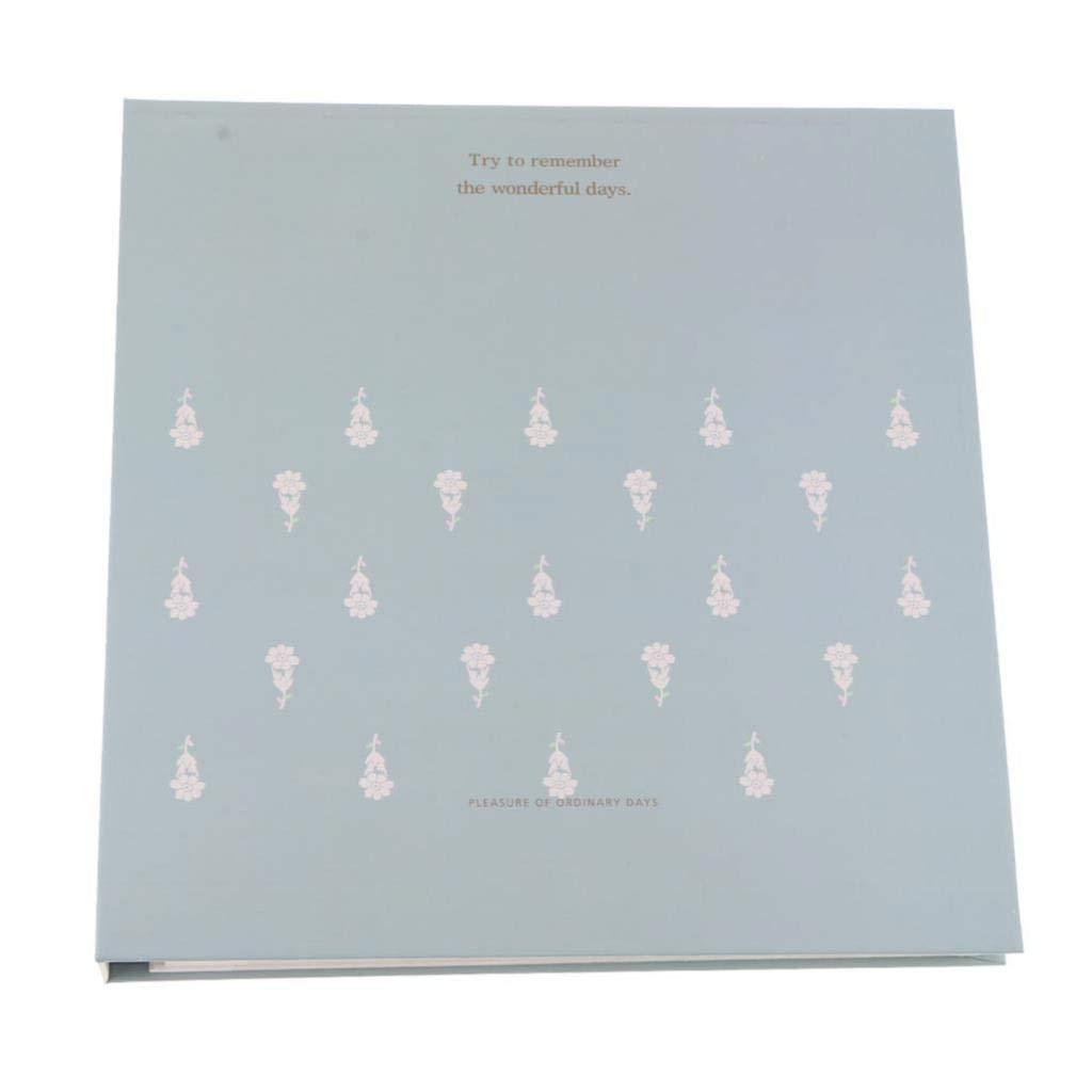 SM SunniMix Self-Adhesive Photo Album Family Wedding Album Hand Made DIY Albums Holds 3X5, 4X6, 5X7, 6X8, 8X10 Photos D