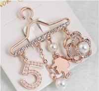 decoration pearl 520 hanger safety pin brooch