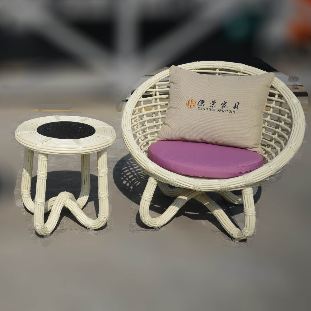Hotel room mini chair outdoor furniture balcony leisure chair outdoor table and chair set