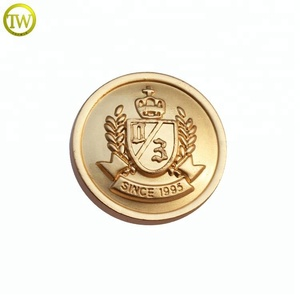 MFB116 Goden alloy embossed logo western metal button snap button wholesale USA