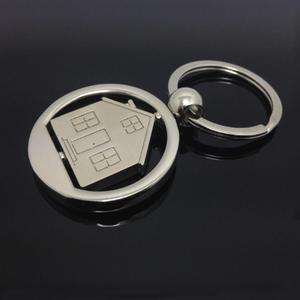 Wholesale zinc alloy house key chain metal house/ revolving key chain/(HH-key chain-1538)