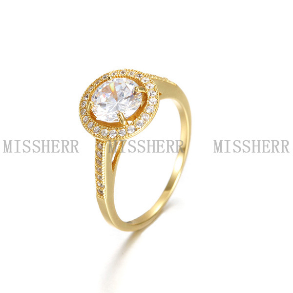 PSEZY Diamond Micro Pave Rose Gold Plating Crystal Flower Index Finger Rings  Dual mittens Ring