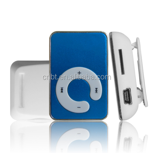 Hot Sale Mini Clip MP3 Music Players Support TF Card With Earphone & Mini USB