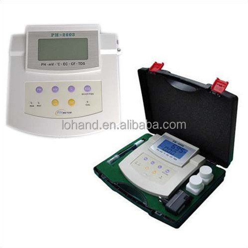 laboratory China bench top digital pH/Temp/ORP/EC/CF/TDS test pH meter