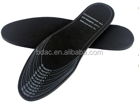 light weight soft EVA foam breathable memory foam insoles black