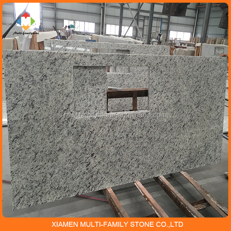 High quality white prefab granite kitchen countertop