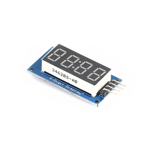 K11 4-digit LED Display Module LED Brightness Adjustable Clock Point Integrated Circuits Accessory