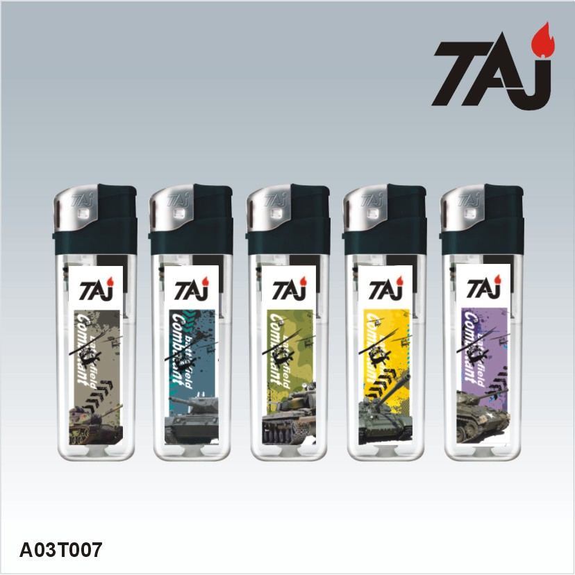 TAJ brand 8.0cm fashion design lighters factory china