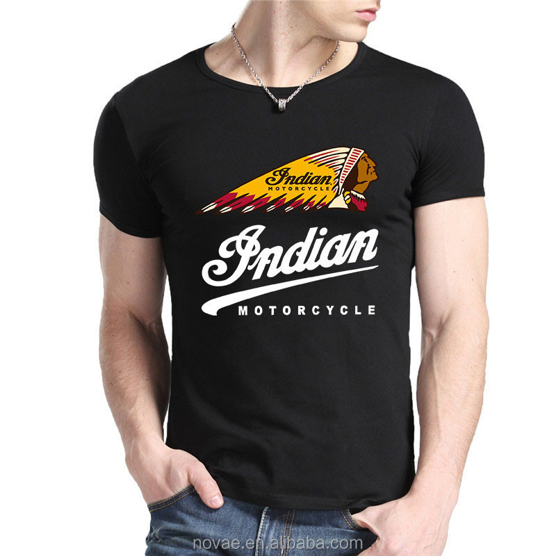Indian Motorcycle Logo T Shirt Men's Fashion Tee High Quality Diy ...