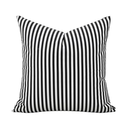 Cotton Fabric Black And White Cushions Home Decor Stripes