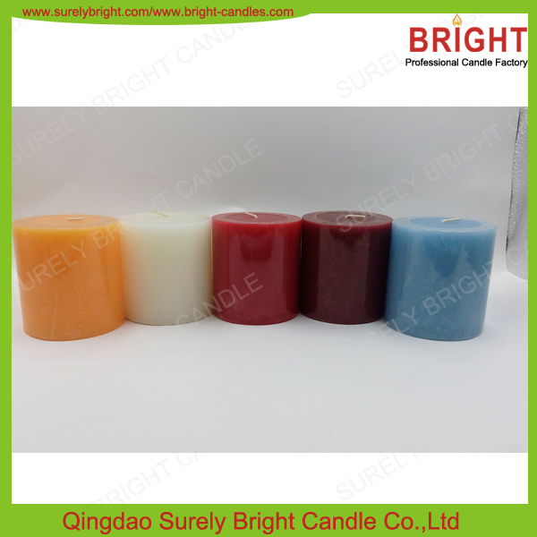 BRIGHT Scented Candle Brands Hot Selling Pillar Candles