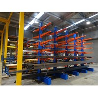 long bulky storage cantilever rack for furniture, lumber, tubing, textiles