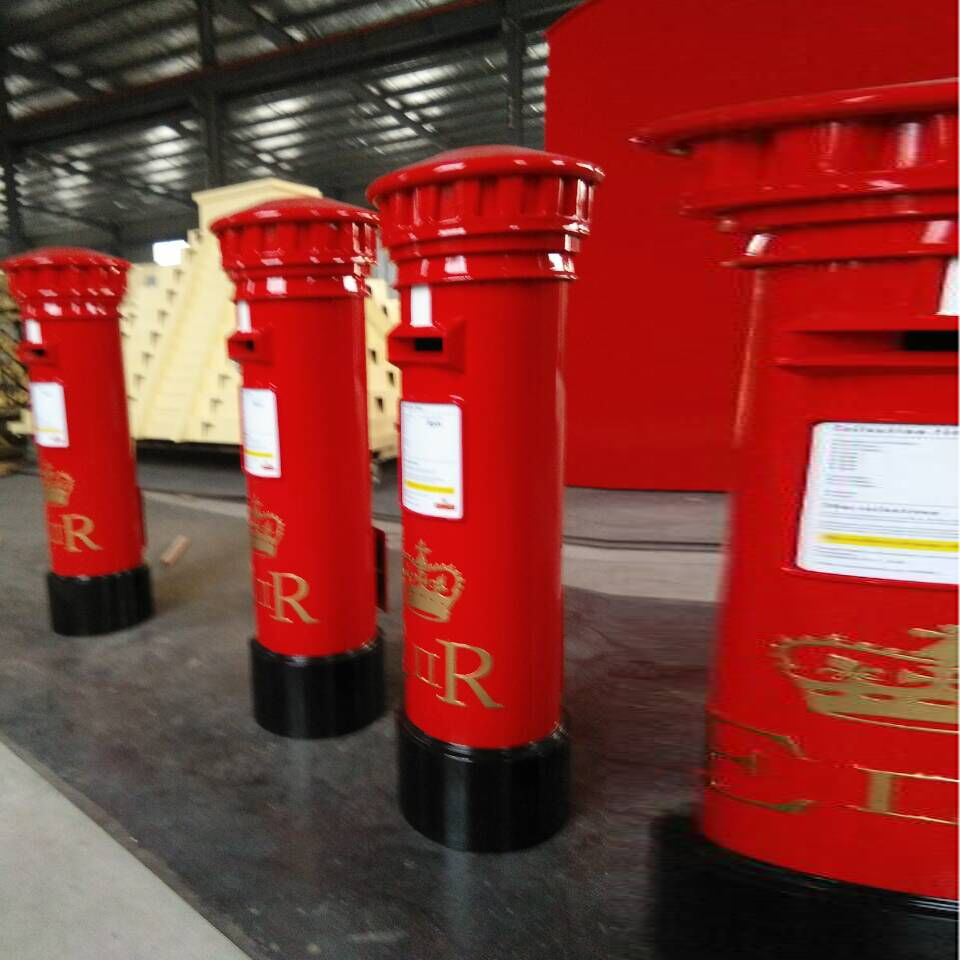 English red mail box post box China mailbox for sale