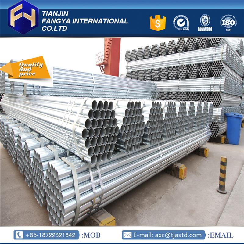 gi tubes ! 254 bs1387q215 ms galvanized round pipe for struct gi pipe properties made in China
