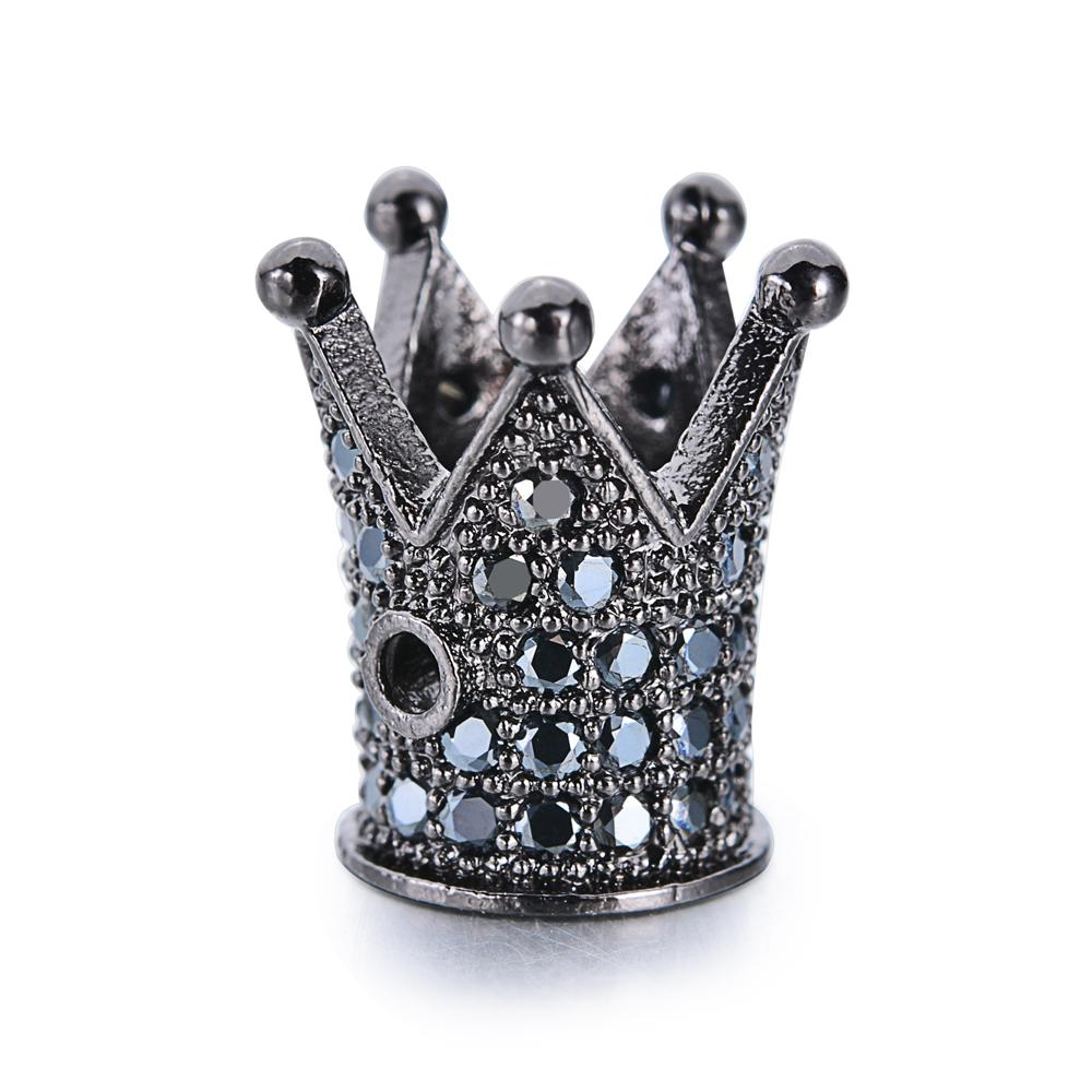 Fashion Jewelry Accessories DIY Beads Bracelet Rhinestone Queen Crown Pave Zircon <strong>Charms</strong>