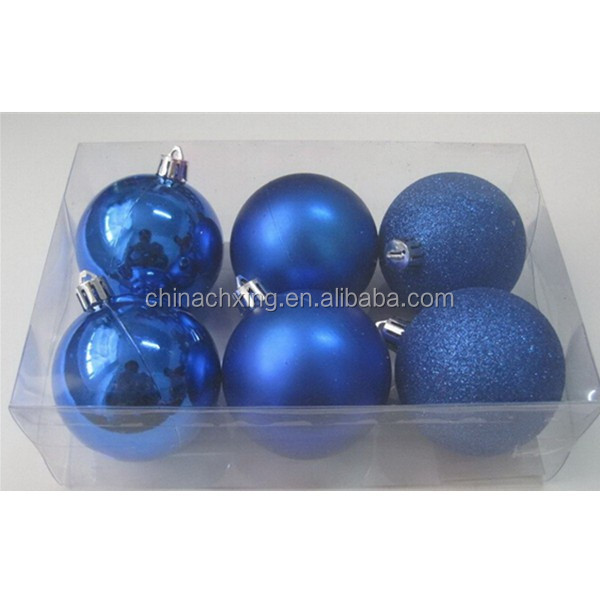 Shiny /Matte/glitter blue color christmas ball garland decoration