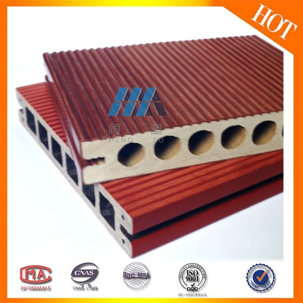 2017 Waterproof Composite Wood Decking Easy Installation WPC Flooring Board