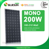 Bluesun good price 200W 210W monocrystal solar panels with CE TUV certificate