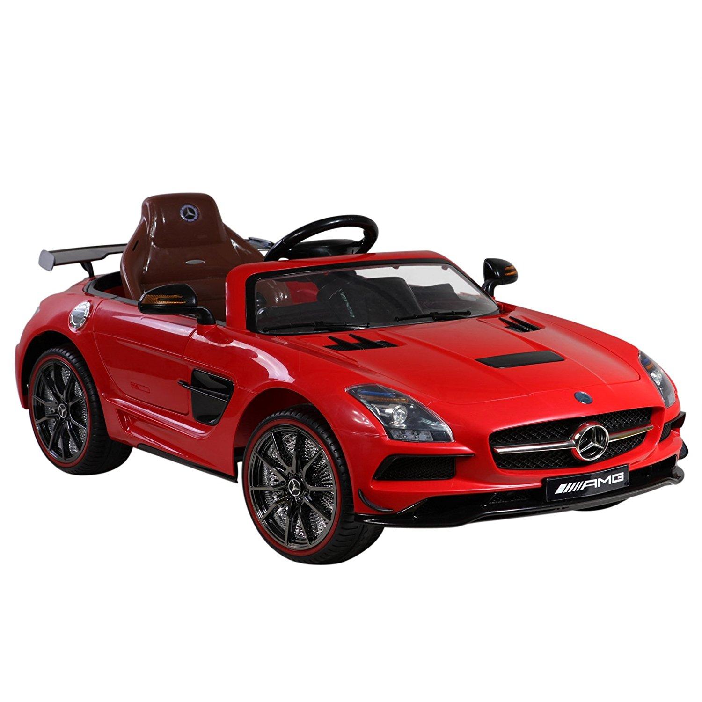 Licensed Mercedes Benz SLS AMG 12V Kids Battery Powered Ride On Car - Red