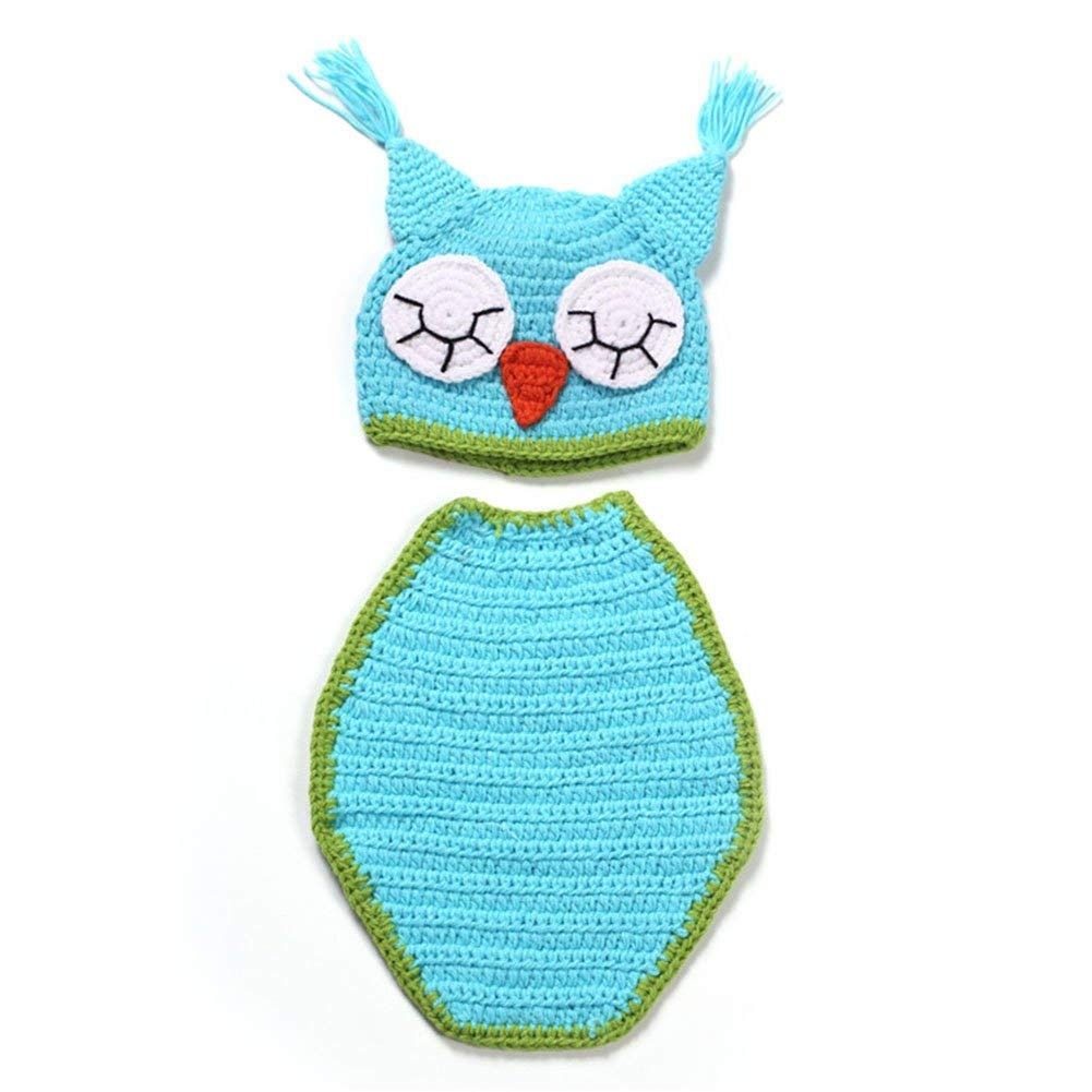 CX-Queen OWL Design Baby Crochet Photo Photography Props Newborn Baby Knitted Outfits