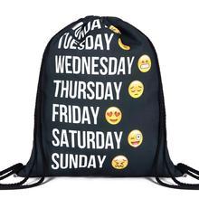 Dámský ruksak se zdrhovací šňůrkou s vtipnými motivy – velký výběr na Aliexpress