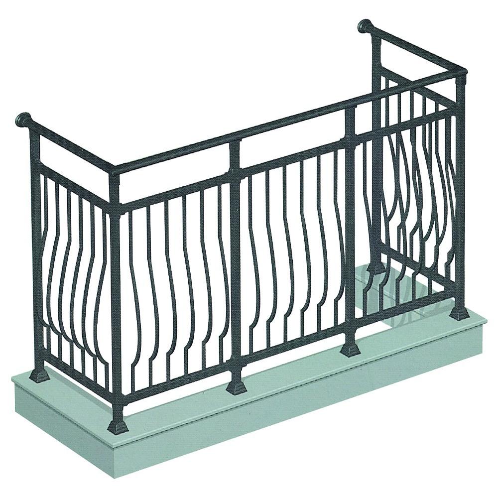 montiert pulverbeschichtetem aluminium gel nder f r. Black Bedroom Furniture Sets. Home Design Ideas