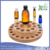 2 levels Essential Oil Wooden Storage Carousel with Different size holes
