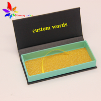 High quality factory sale custom printing black lashes box