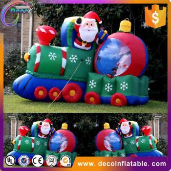 outdoor christmas decorations large lowes christmas inflatables sitting santa claus - Lowes Outside Christmas Decorations