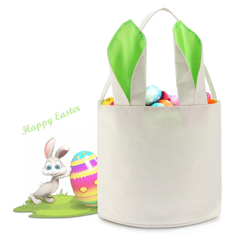 ca5e830dac Get Quotations · Easter Basket Easter Egg Hunts Party Bag For Kids Candy Bag  Easter Egg Basket Bucket Bunny