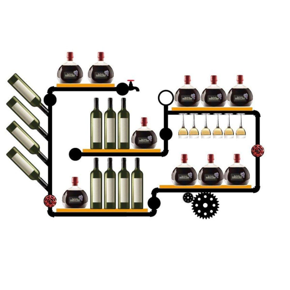 Sunday Qh Wine Racks Wall Hangings Wrought Iron Shelves Cabinets Hanging Gl Holders Vintage Pipes Creative Decoration E In