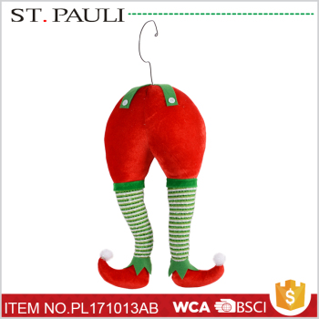 holiday time tree hanging plush elf legs decor christmas decorating for wholesale - Elf Legs Christmas Decoration