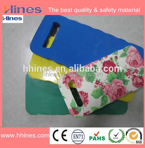 2017 Hot sell Custom hassock knee support comfortable garden foam kneeling pad