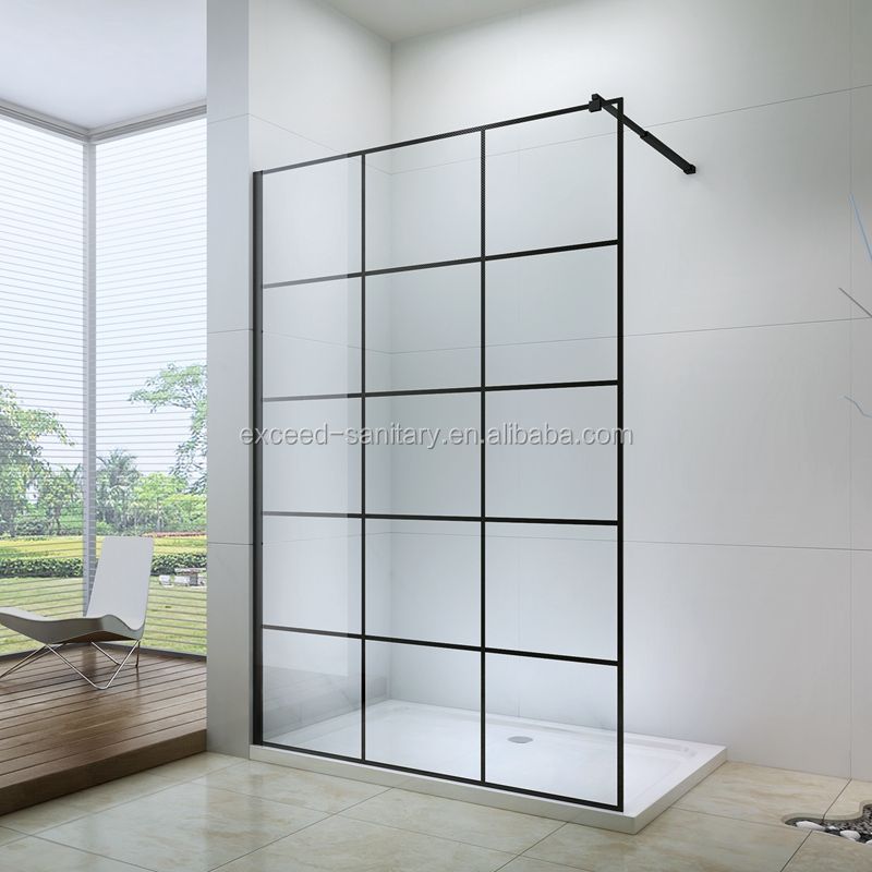 New product walk in shower enclosure with black frame 8mm glass