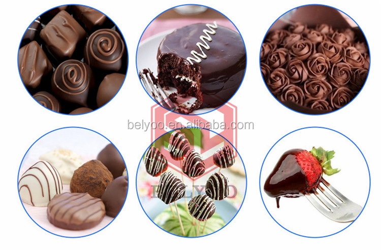 Tasty and delicious wafer biscuit mini chocolate enrober machine
