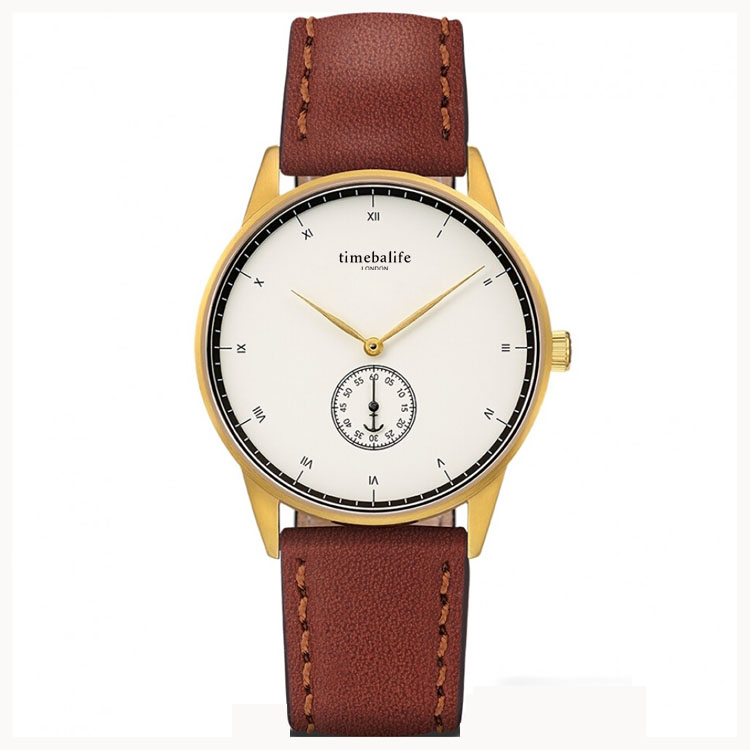 Waterproof PVD Plated Red Genuine Leather Band Top Brand Gold Case Luxury Women Wrist Watches