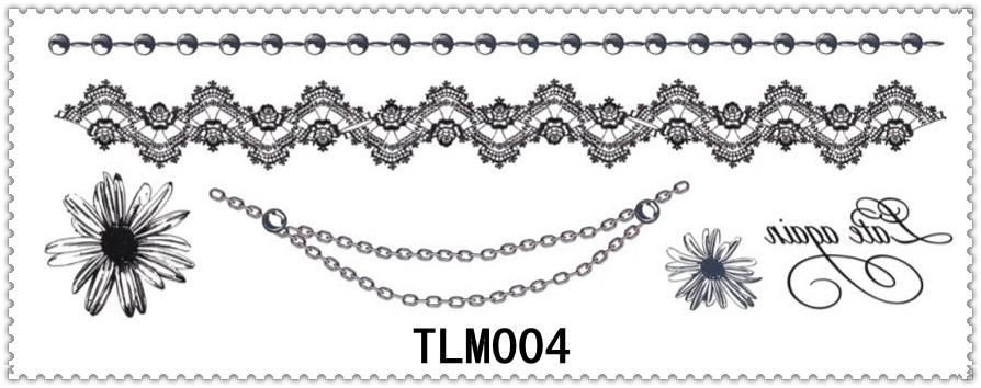 Assez TLM004 Bijoux Bracelet Autocollants De Tatouage/Safe Temporaire  RO31