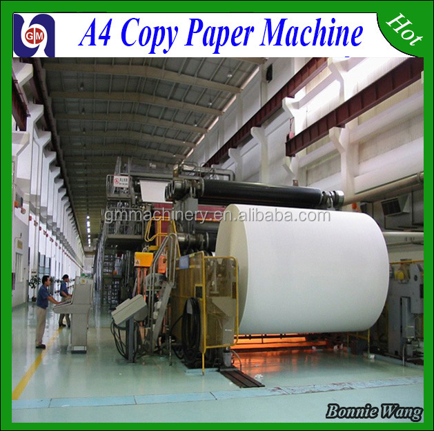 China 1092mm A4 copy paper/culture paper/printing paper making machine