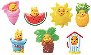 Winnie The Pooh Peek-a-Pooh Summer Splash Capsule Toys 7 piece charms (NOT A SET)