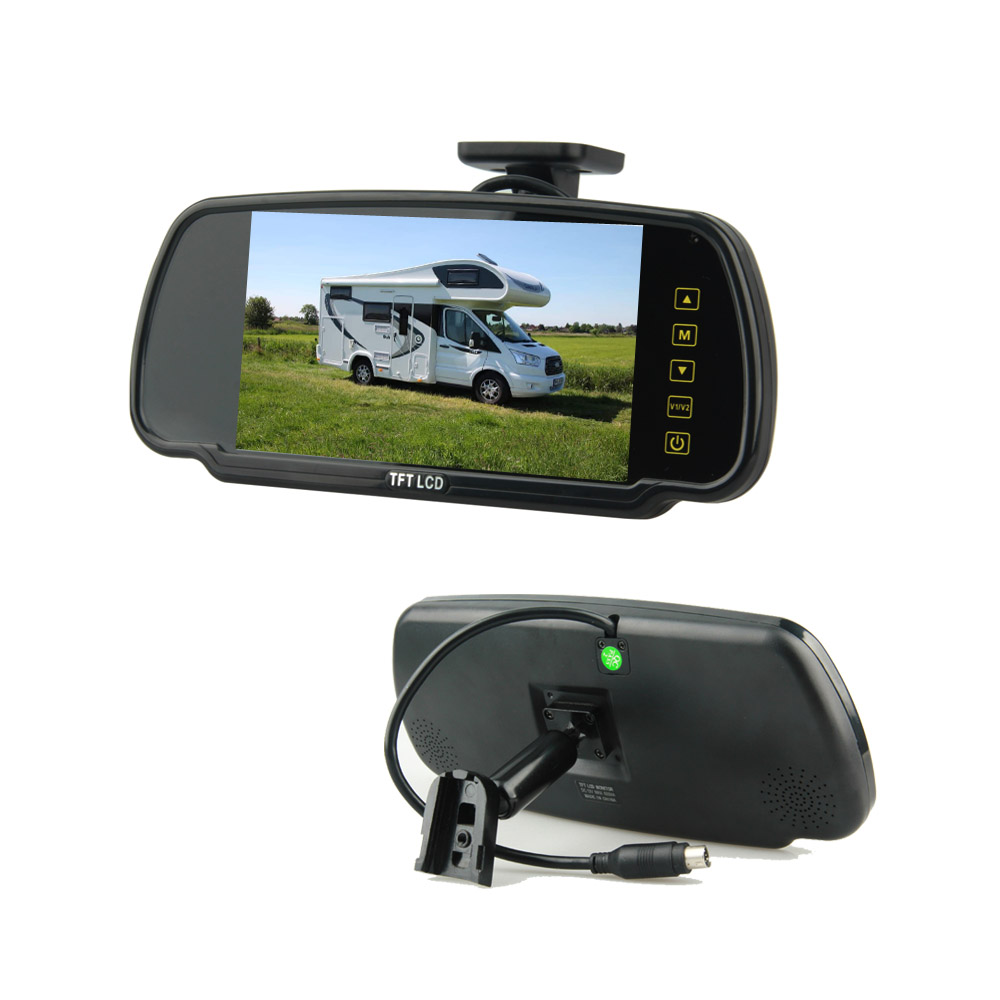 "7""Mirror Rearview Monitor 24V With Bracket For Cars Vans Trucks Use"