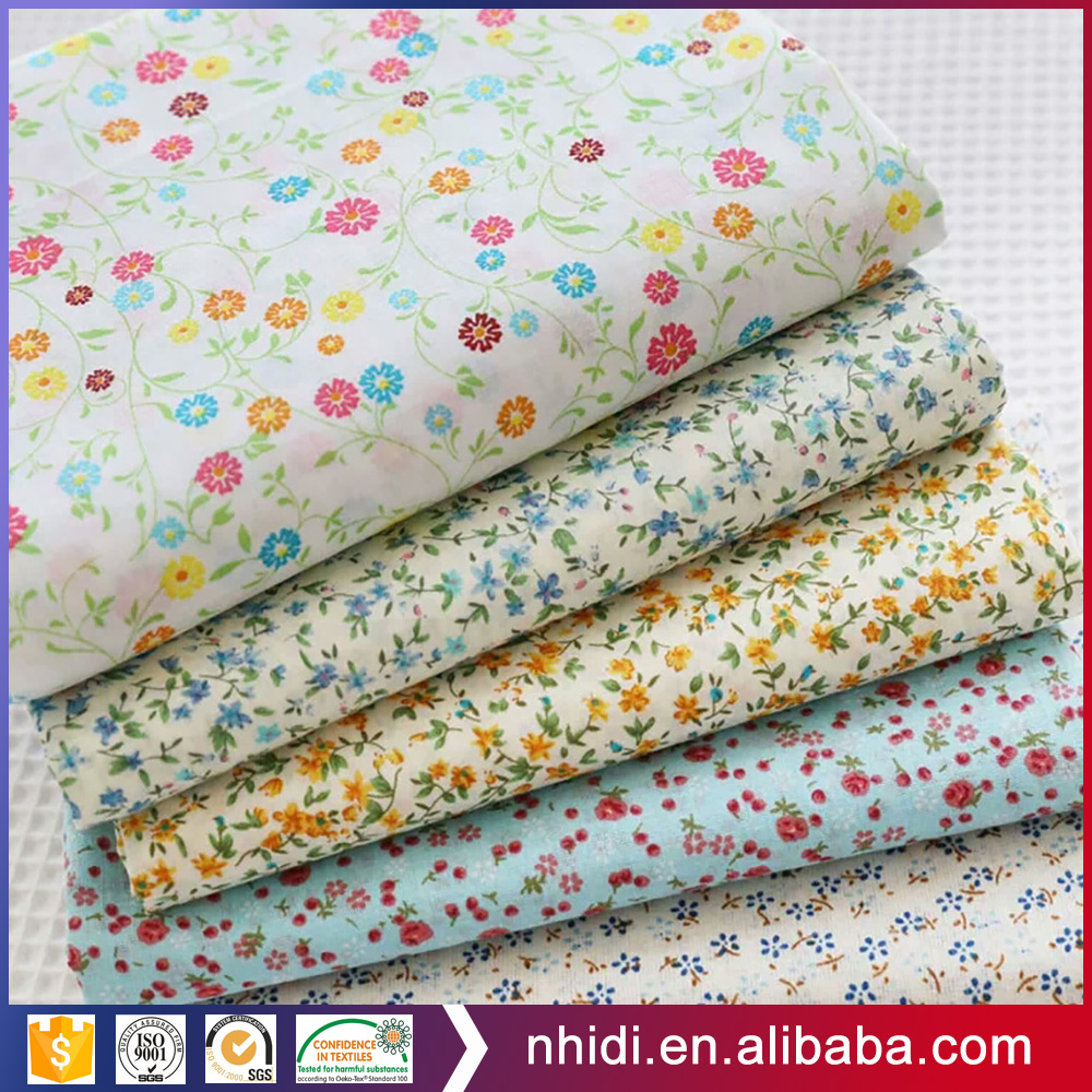 china alibaba peached plain and dyed cotton 120 gsm bed sheet fabric printed flowers
