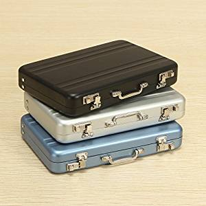 Aluminum Business Credit Cards Box Mini Suitcase Card Holder High-Grade Business Office Cards Box