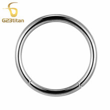 G23 Titanium основные общие кольца для пирсинга тела, Ушные Шпильки для бровей, сосков, носа, перегородки, сегментные кольца для губ, Промышленная ...(China)