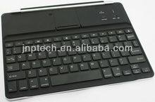 Black Portable wireless bluetooth keyboard for iPad with keycap