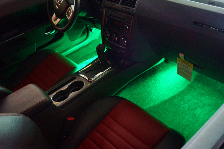 high quality 4 pcs car interior light accessories decorative led car light led strobe lights. Black Bedroom Furniture Sets. Home Design Ideas