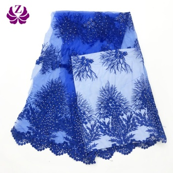 african cheap discount quality stoned net clothing embroidered lace fabric